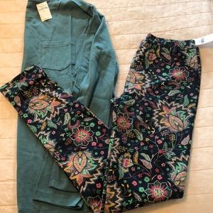 GAP kids- xl paisley leggings and pocket l/s tee